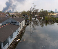 Flooded Lake Forest area of New Orleans