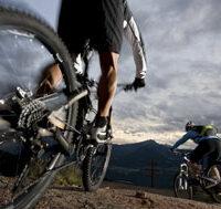2 persons biking