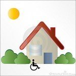 disabled housing logo sign x